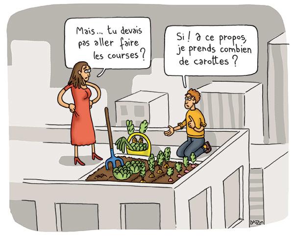 Illustration BD de l'autonomie en ville