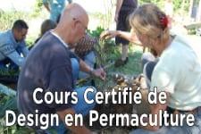 Cours certifié de Design en Permaculture-84h-Avril
