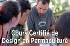 Cours certifié de Design en Permaculture-84h-Février