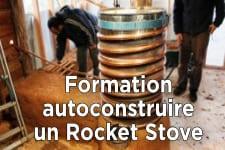 Formation d'autoconstruction d'un Rocket-stove