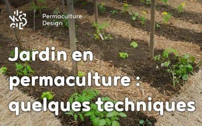 Un jardin potager utilisant des techniques de permaculture