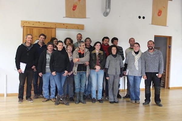 Professionnels du monde agricole et paysager en formation permaculture au battement d'ailes