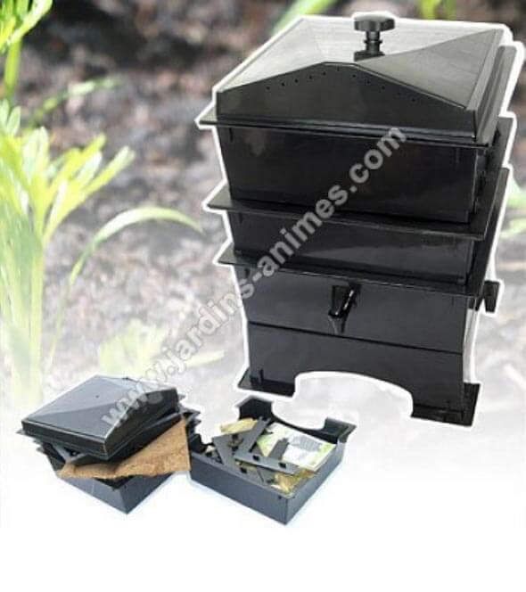 le vermicomposteur une bo te vers pour faire son compost. Black Bedroom Furniture Sets. Home Design Ideas