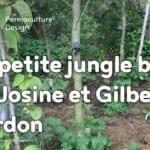 Le jardin-forêt en permaculture des fraternités ouvrières de Mouscron en Belgique.