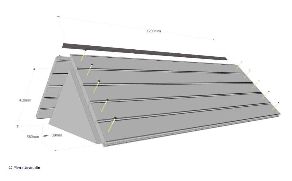 fabriquer une ruche horizontale avec des mat riaux de bricolage simples. Black Bedroom Furniture Sets. Home Design Ideas