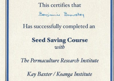 BB_Certificat seed saving course