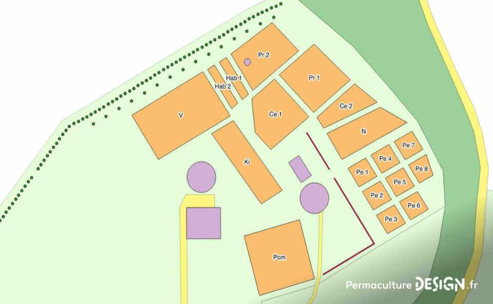 Bilan après un an d'organisation et de plantations pour créer un jardin-forêt comestible en permaculture au sein de la communauté du projet TERA.