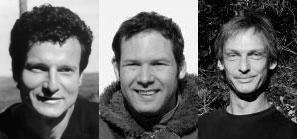 Portraits de S.G. Fleischhauer, R. Spiegelberger et J. Guthmann auteurs du livre Plantes sauvages comestibles, mode d'emploi paru aux Éditions Ulmer.